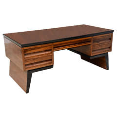 Fine Italian Modern Walnut Executive Desk, Borsani