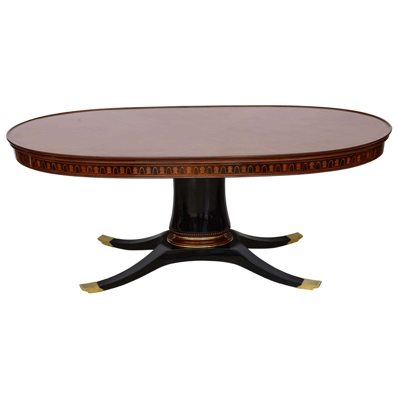 An italian modern dining table library table paolo buffa for Italian dining table