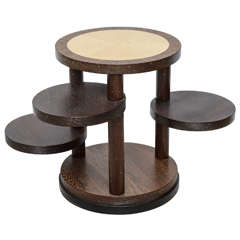 A French Art Deco Palisander and Sycamore Rotating Table, Andre Sornay