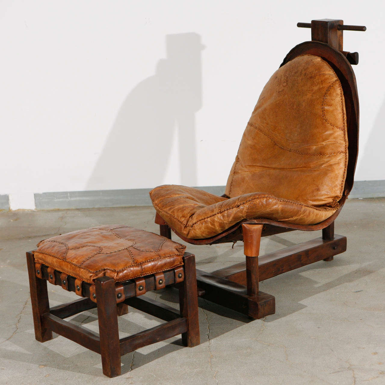 Unusual Handmade Chair and Ottoman 2