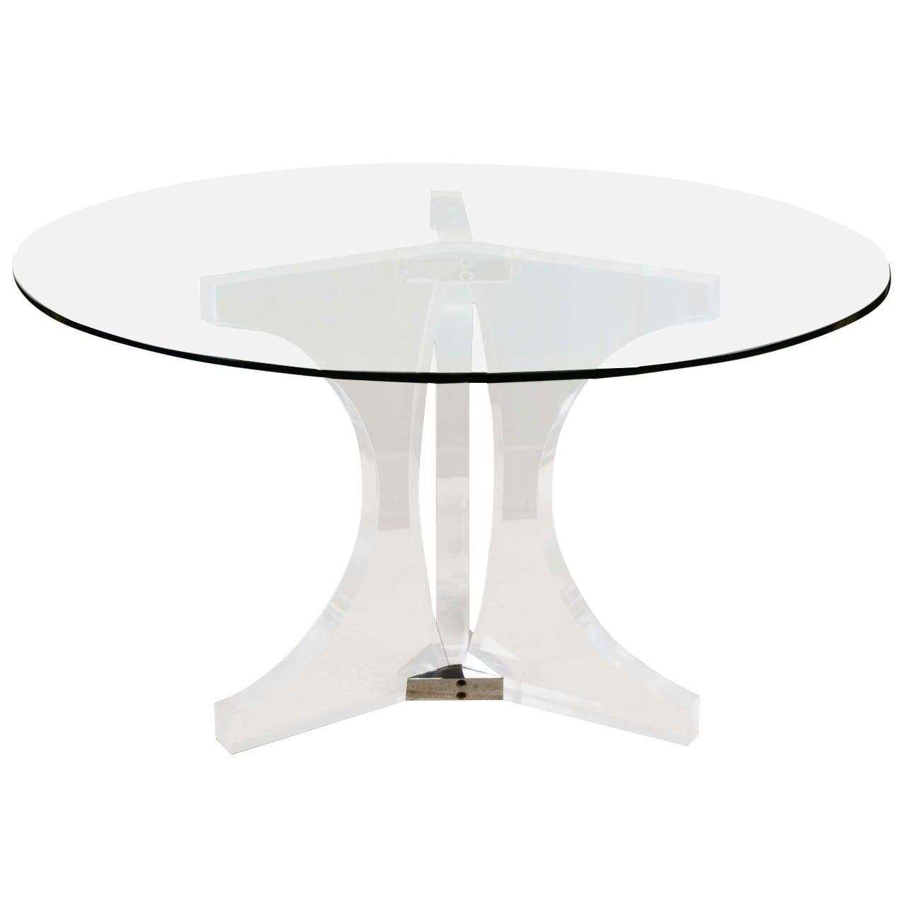 1970s Plexiglass Dining Table at 1stdibs