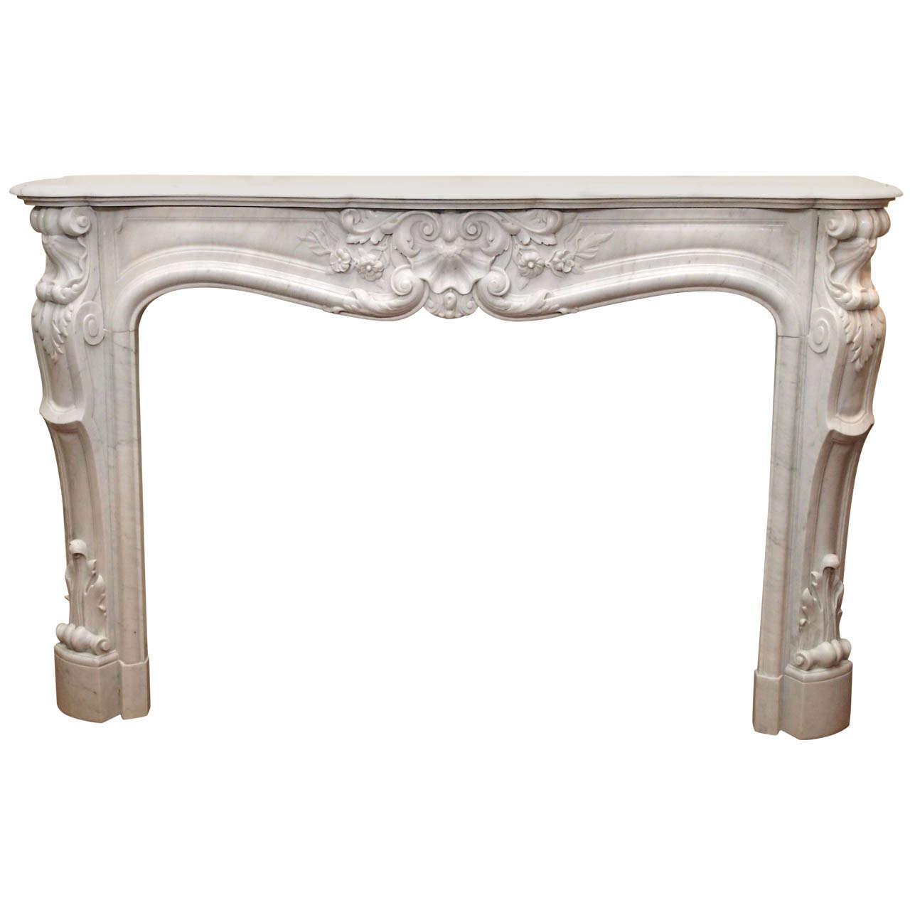 antique frenchg carrara marble mantel circa 1860 1870 at