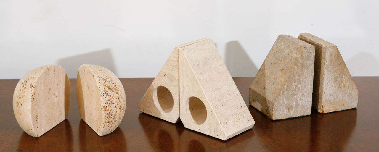 Pairs of Travertine Raymor Italy Book Ends image 2