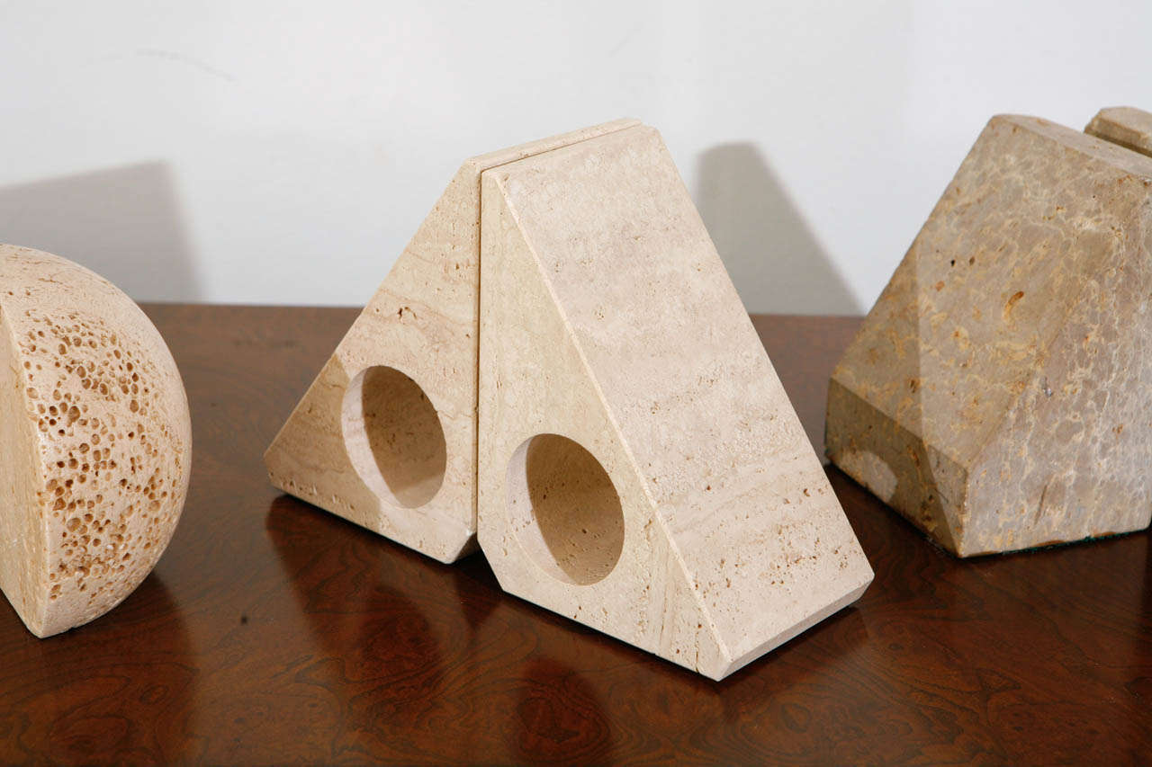 Pairs of Travertine Raymor Italy Book Ends image 4