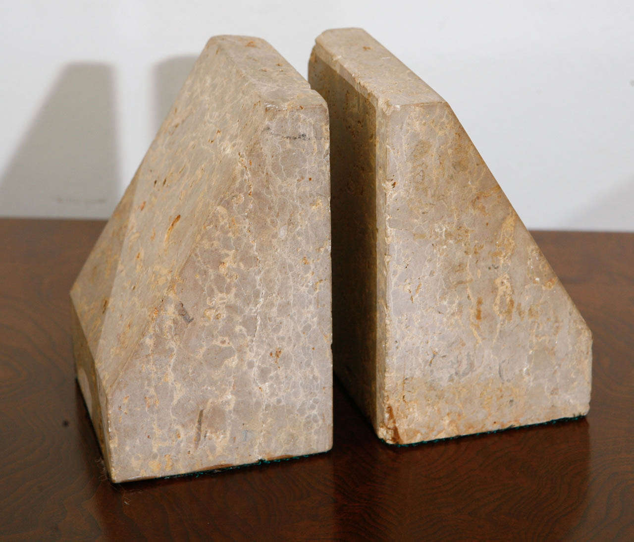 Pairs of Travertine Raymor Italy Book Ends image 5