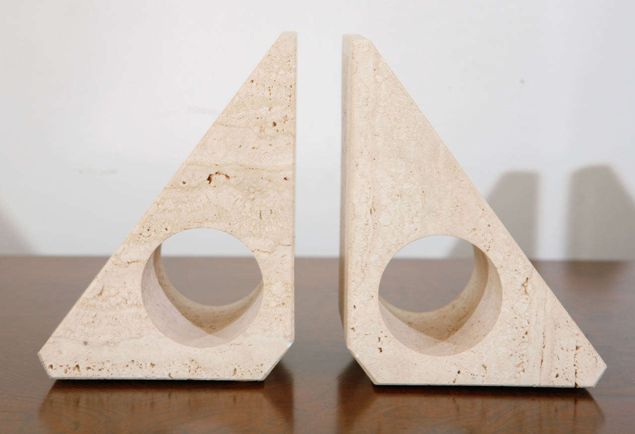 Pairs of Travertine Raymor Italy Book Ends image 7
