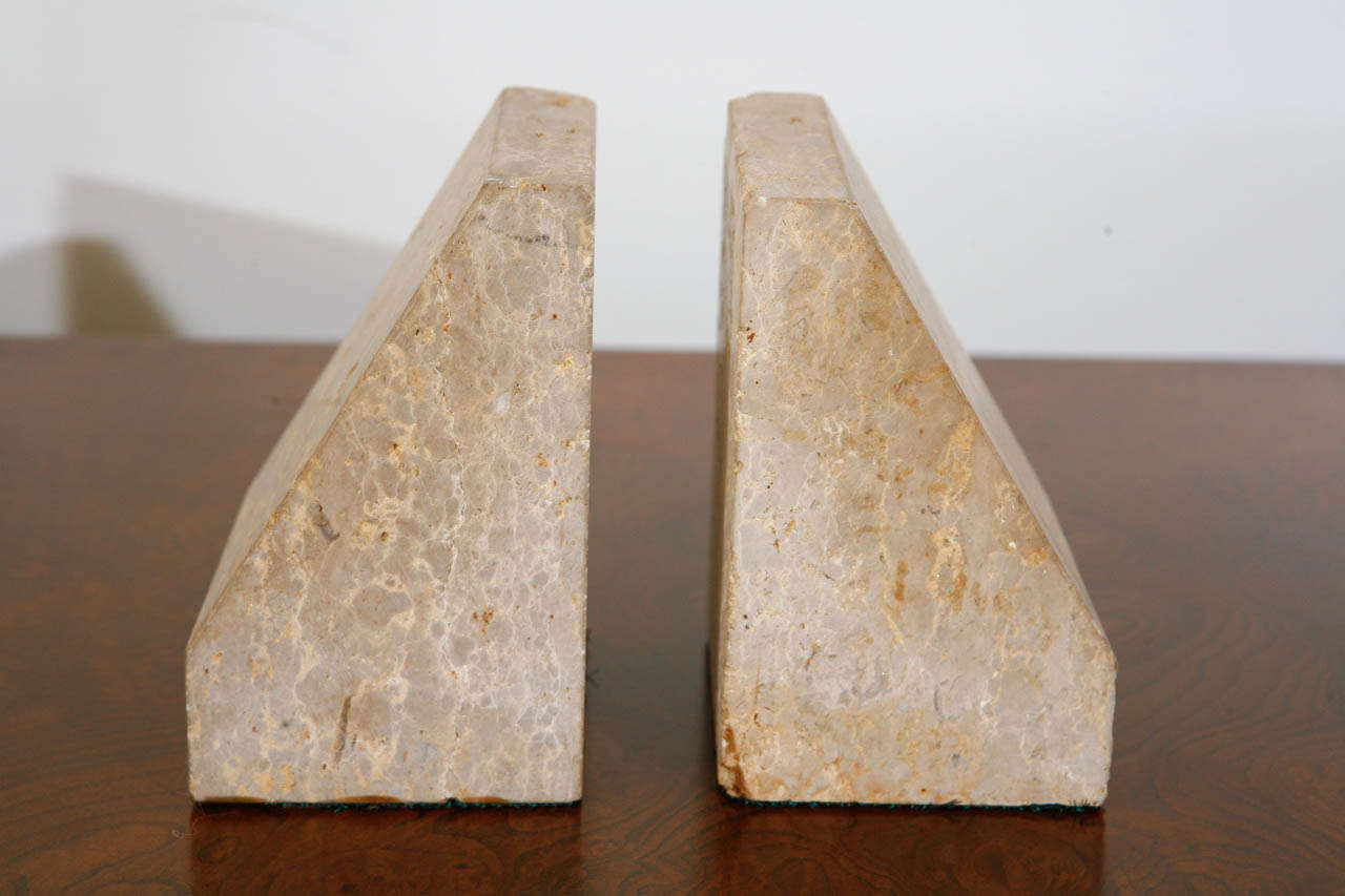 Pairs of Travertine Raymor Italy Book Ends image 8