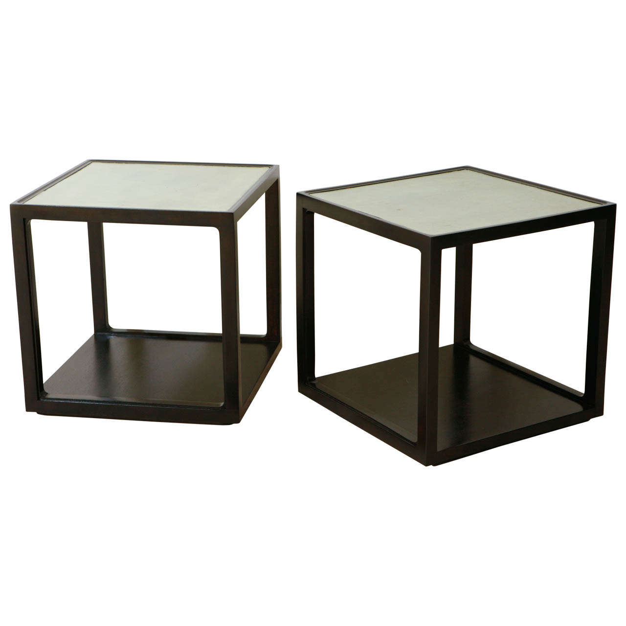 Pair of mid century cube side tables at 1stdibs for Cube side table