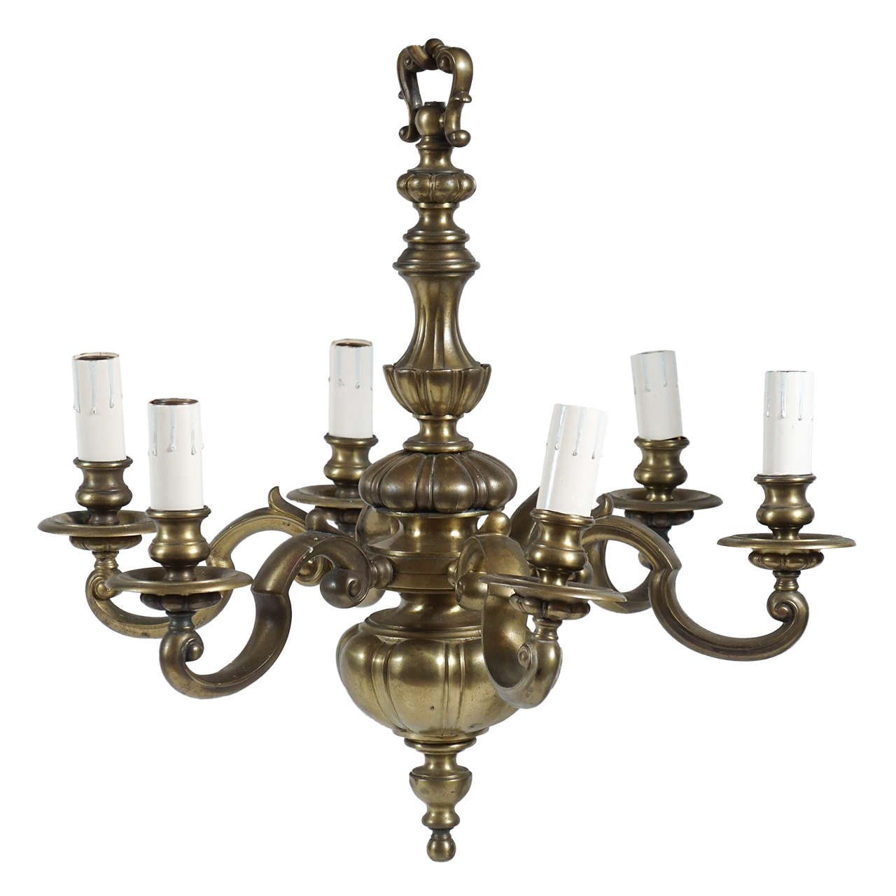 Edwardian period english baroque style bronze six light chandelier edwardian period english baroque style bronze six light chandelier circa 1905 1 arubaitofo Gallery
