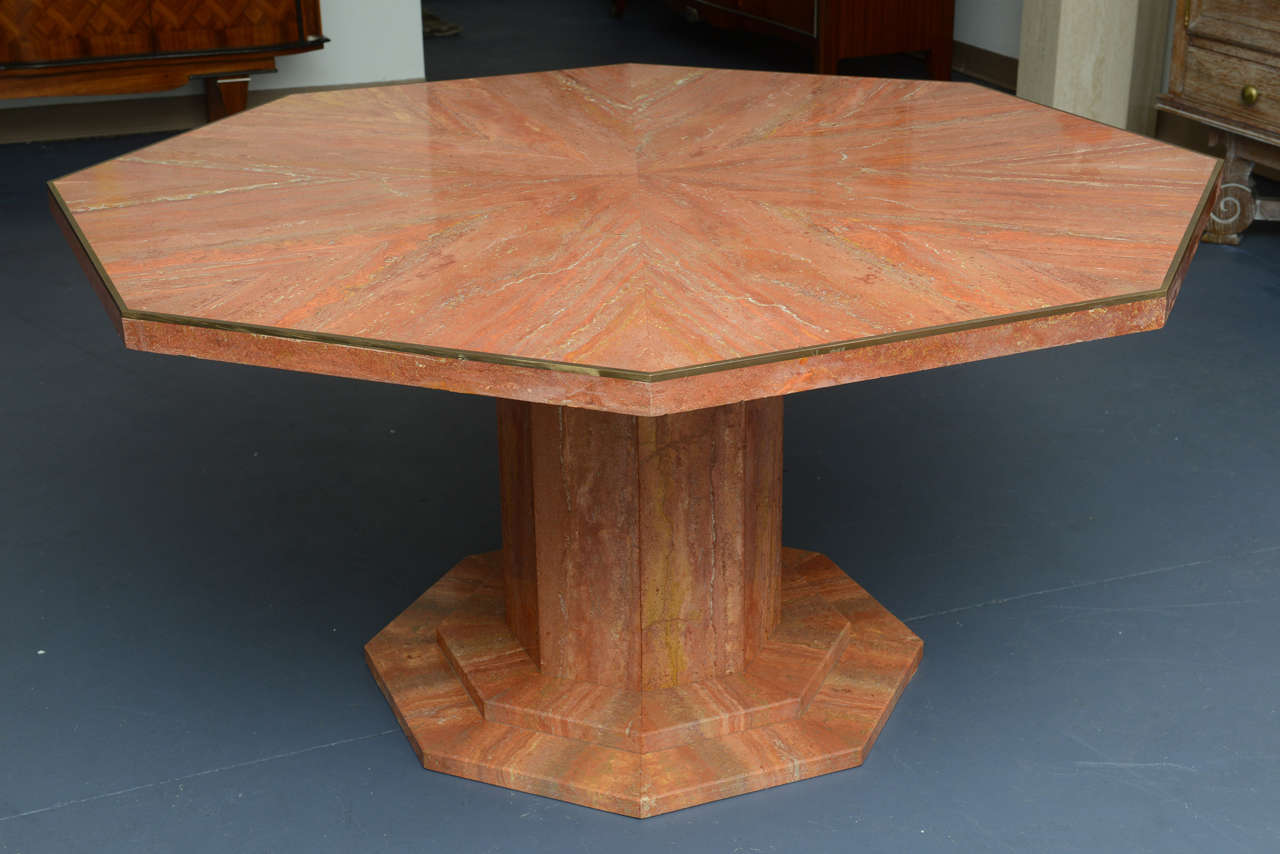 Octagonal Marble Dining Table At 1stdibs