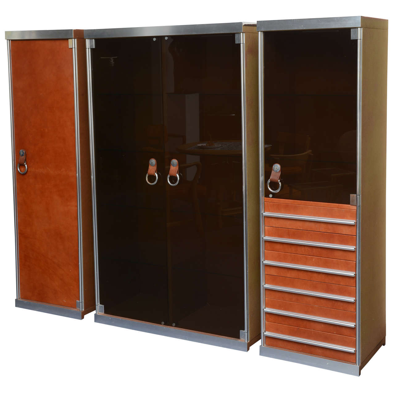 Italian Midcentury Guido Faleschini Set Of Cabinets Retailed By Hermès 1