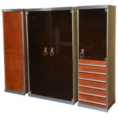 Italian Midcentury Guido Faleschini Set of Cabinets Retailed by Hermès