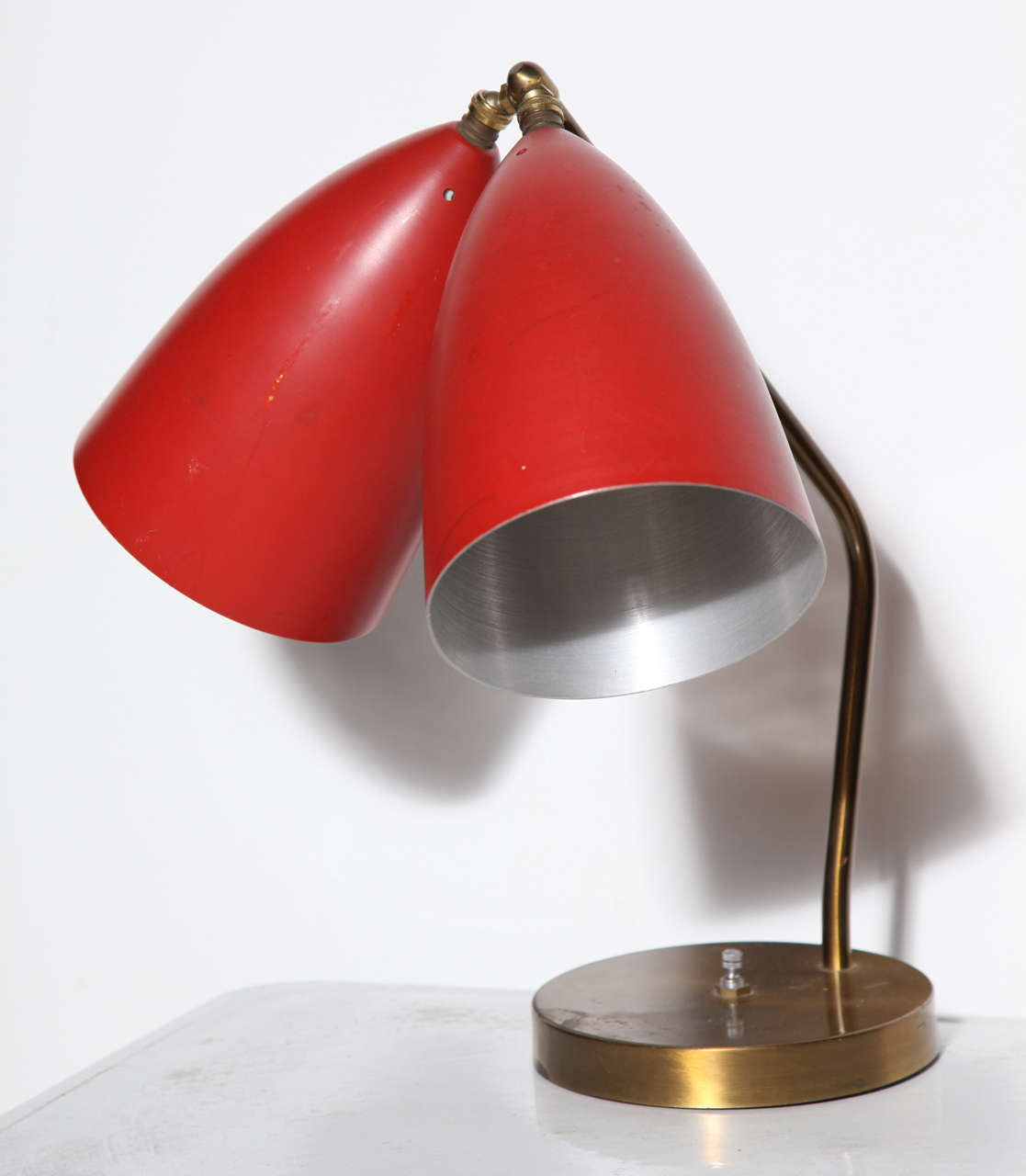 grossman lighting. Mid-Century Modern Rare 1940s Greta Grossman Magnusson Double Cone Table Lamp For Sale Lighting G