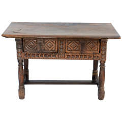 17th to 18th Century Spanish Walnut Refectory Table