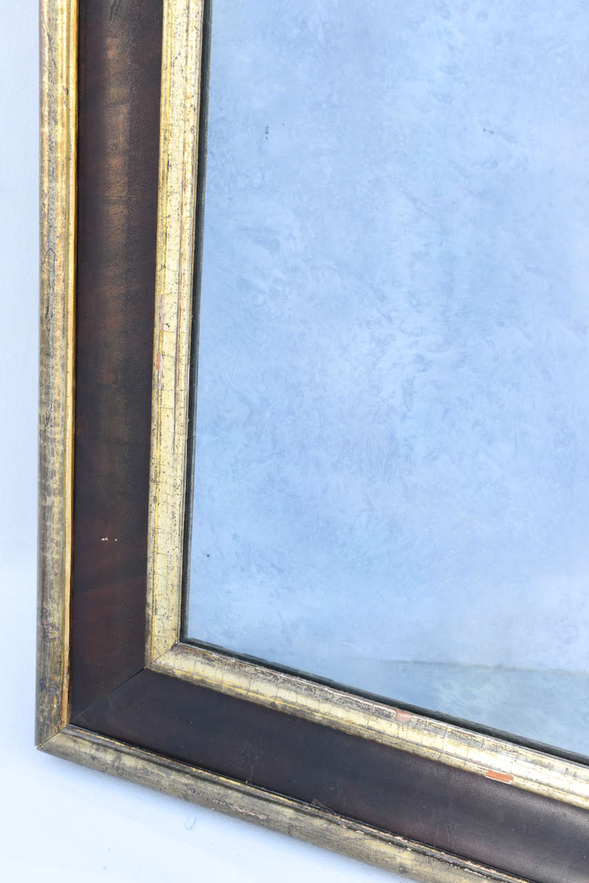 Polychrome and Silver Gilt Molded Mirror Frame with Old Mirror For ...