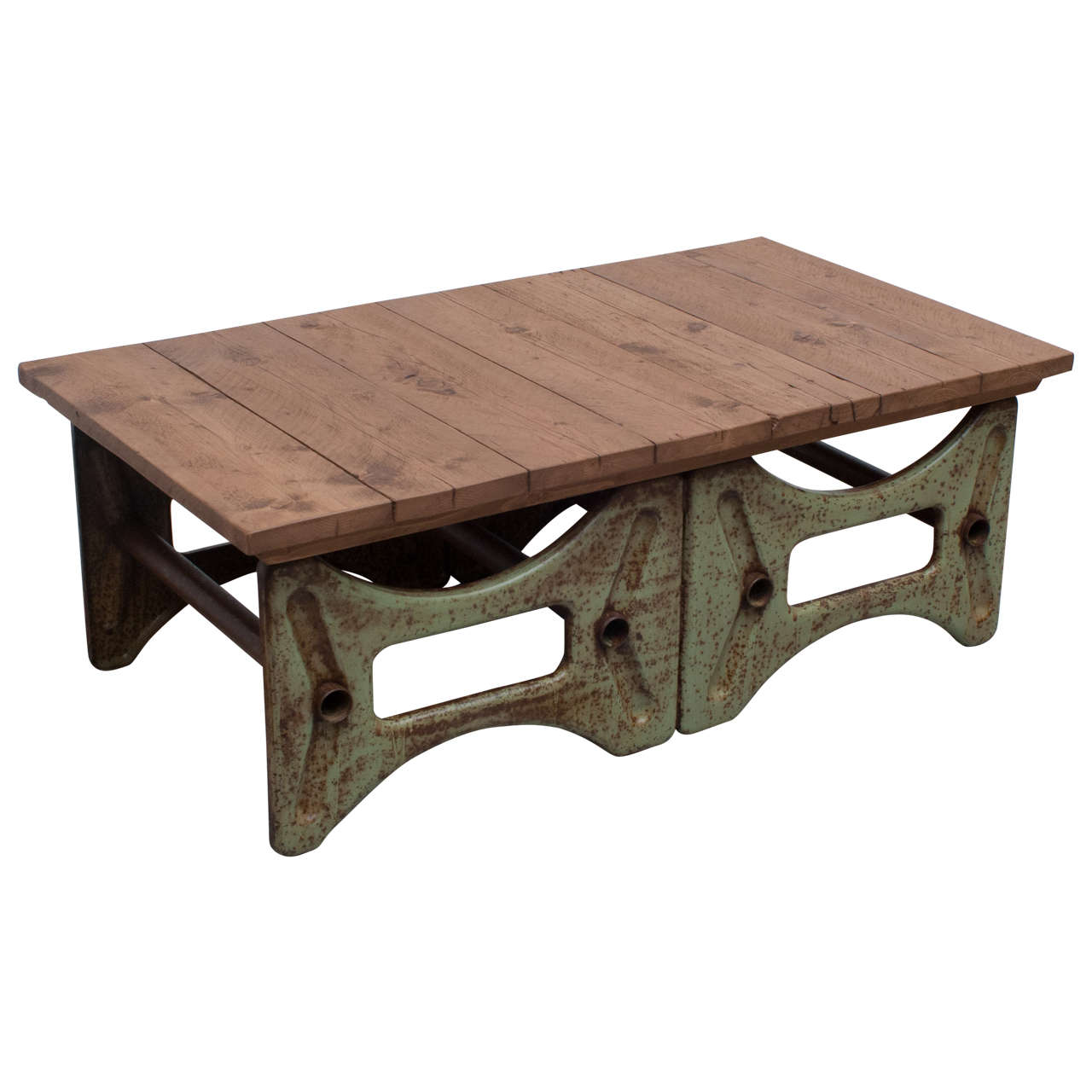 Industrial Base Coffee Table At 1stdibs