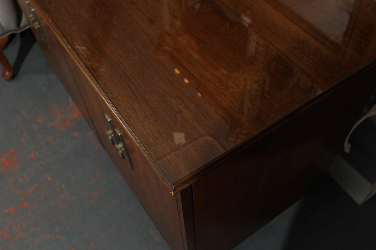 Hideaway Table - mid century cabinet that opens into table with 3 leaves  8