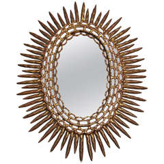 Oval Sunburst Mirror