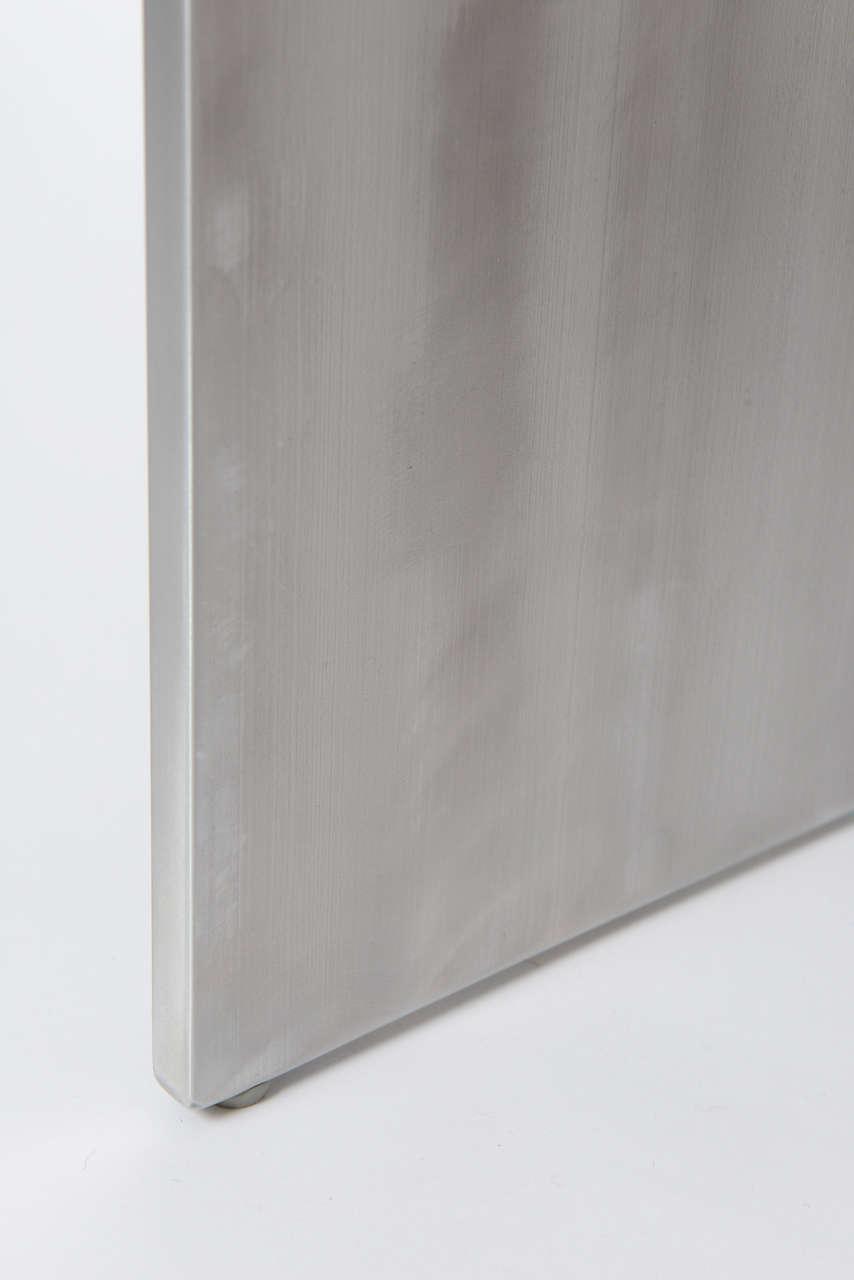 Minimalist Wood Bench, Black Walnut, Aluminum 10