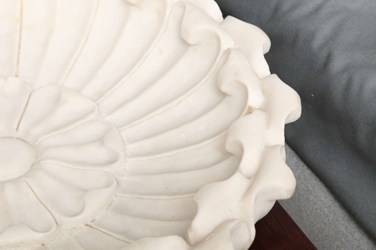 Large White Marble : Large white marble bowl for sale at stdibs