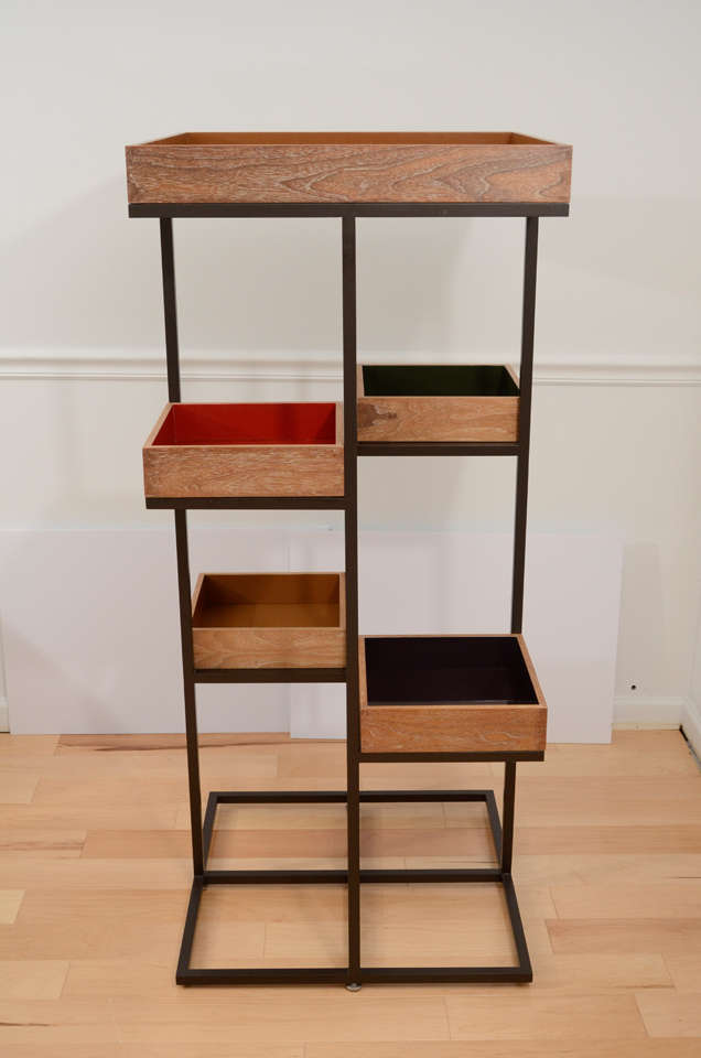custom etagere for takashimaya nyc store at 1stdibs. Black Bedroom Furniture Sets. Home Design Ideas