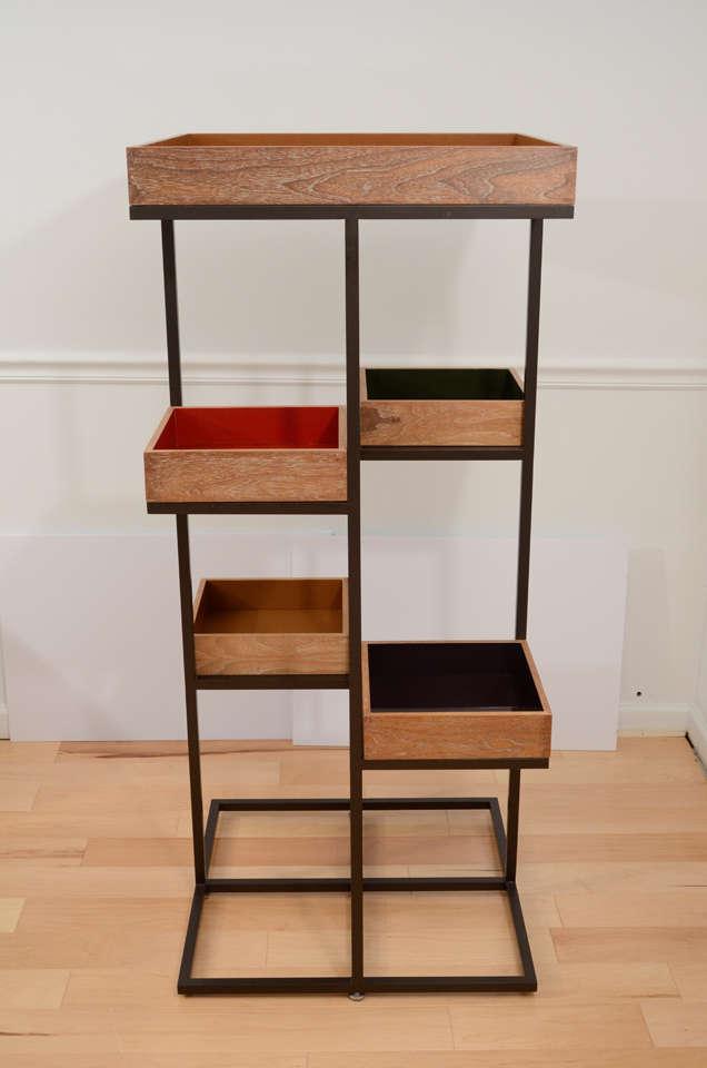 custom etagere for takashimaya nyc store at 1stdibs. Black Bedroom Furniture Sets. Home Design Ideas