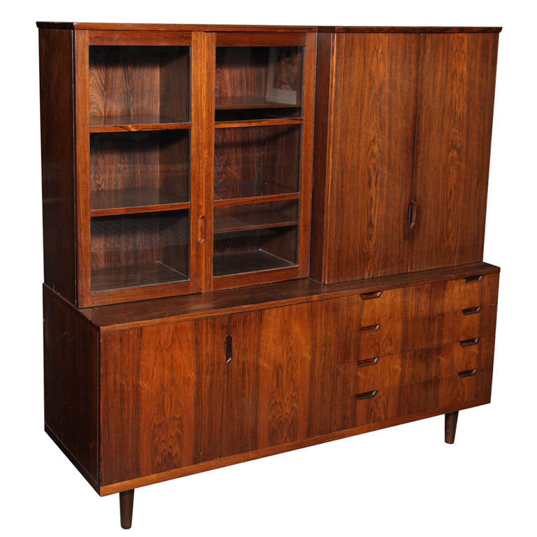 Hutch buffet or china cabinet by lankilde at 1stdibs
