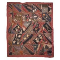 Americana Crazy Quilt, by Ida Rich Williams, 1906