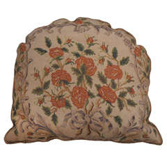 Large 19th Century Needlepoint Pillow