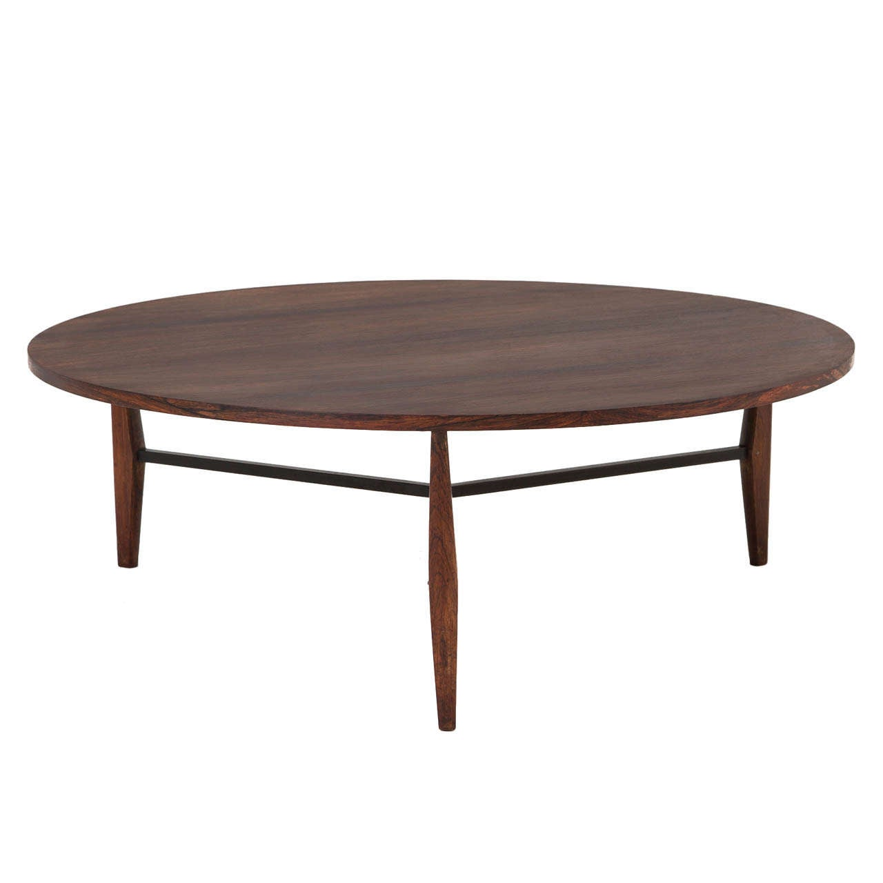 Rare harry bertoia cocktail table in rosewood for knoll germany at 1stdibs - Bertoia coffee table ...