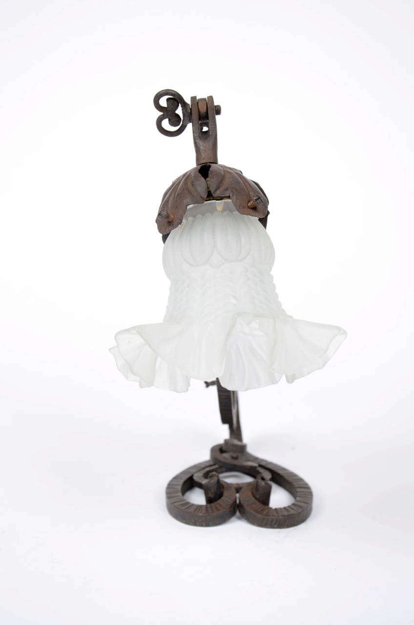 This american art nouveau table lamp is no longer available - Wrought Iron Art Nouveau Desk Lamp 3