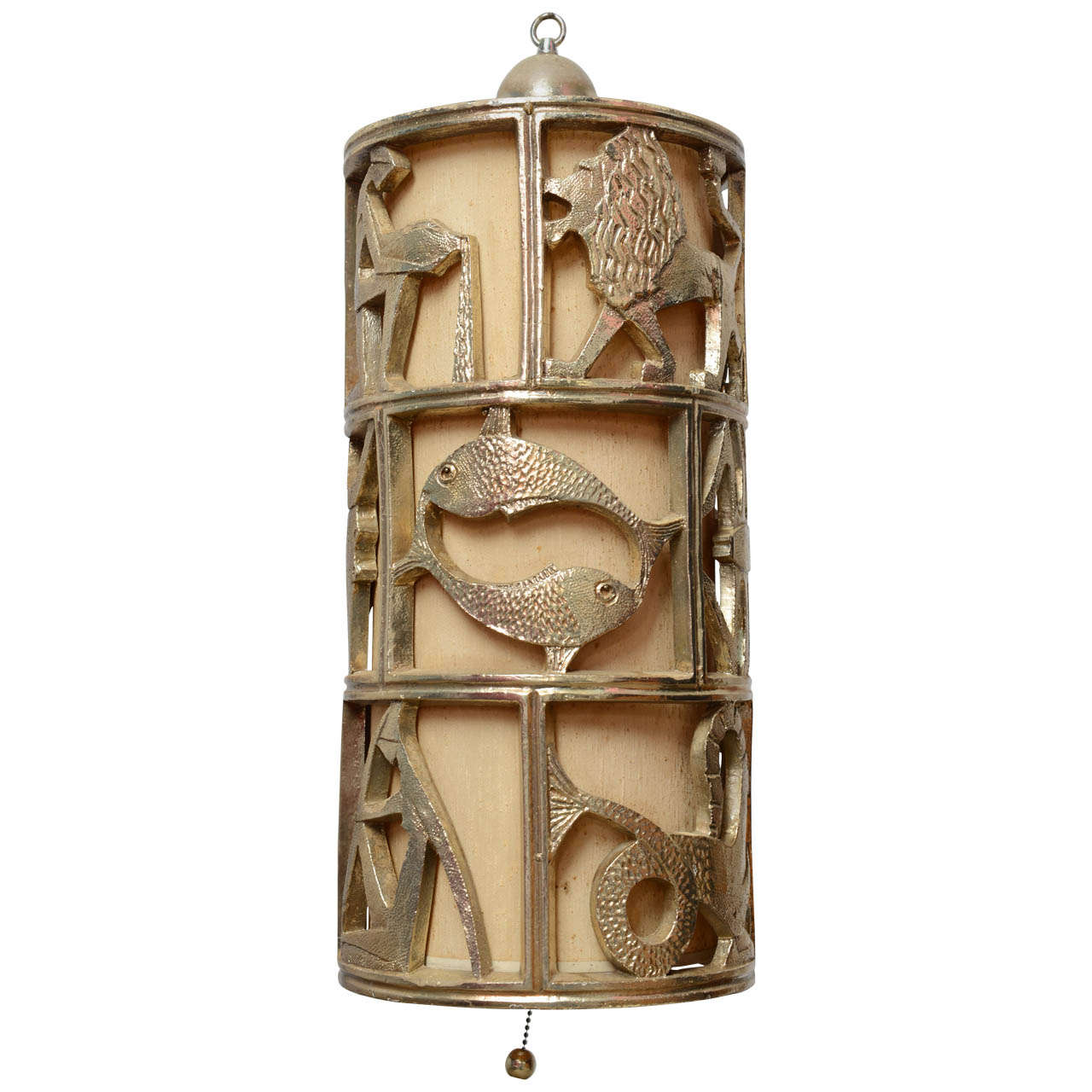 c2a8d663657a Vintage Mid Century Hollywood Regency Gold Gilt Zodiac Pendant Hanging Swag  Lamp For Sale