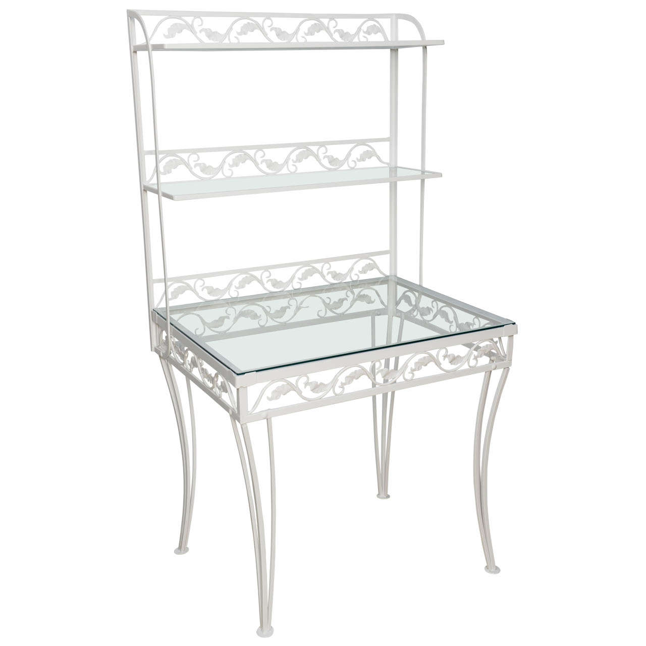 Wrought Iron Etagere or Server by Woodard