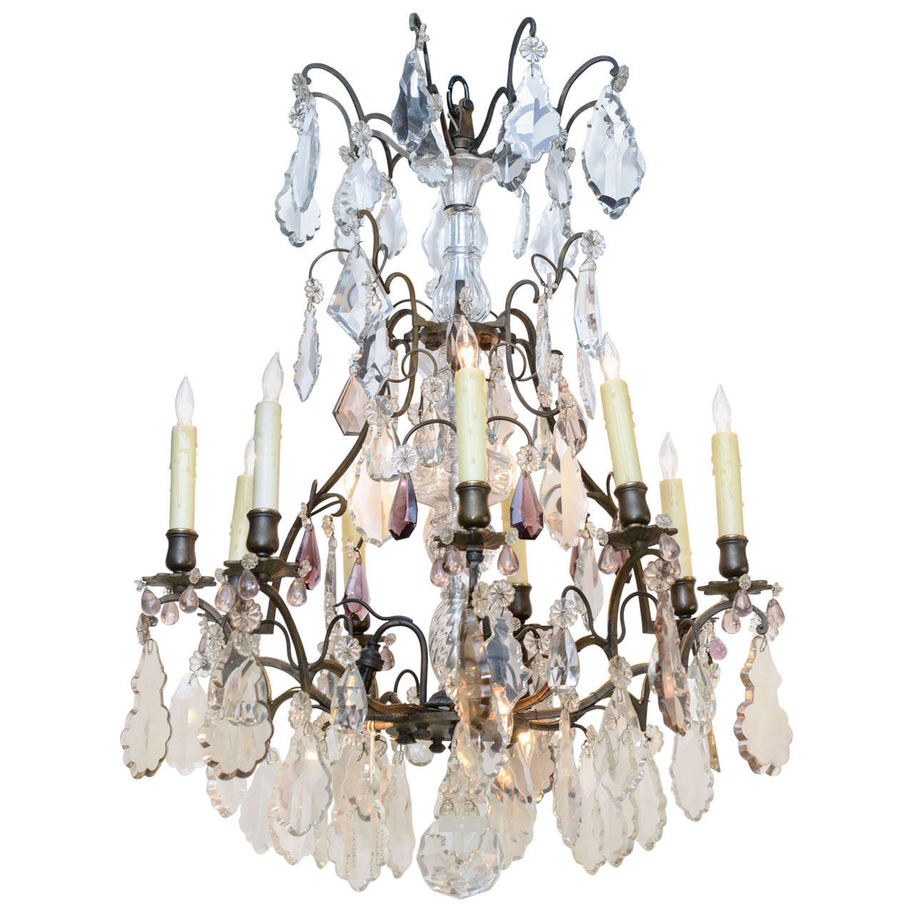 19th Century Baccarat Crystal Chandelier At 1stdibs