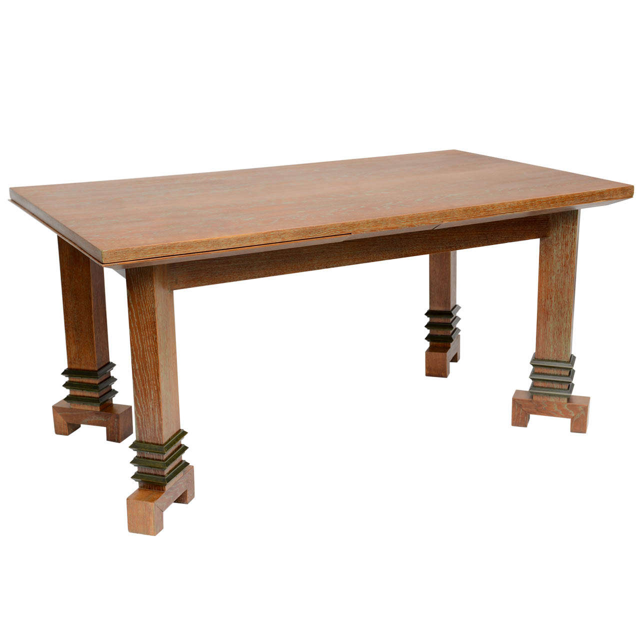 Art deco dining table by maurice jallot at 1stdibs - Art deco dining room table ...