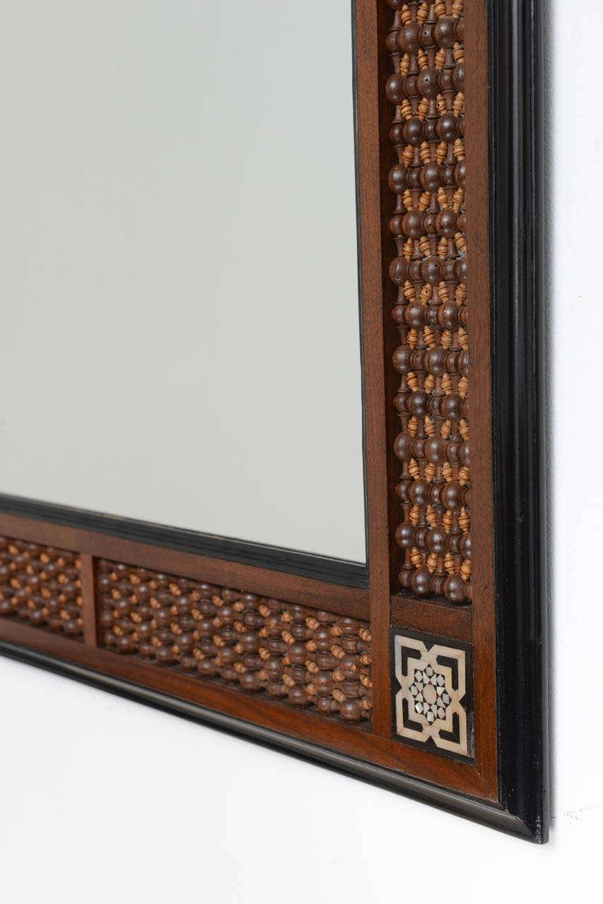 Oriental wood carved mirror at 1stdibs for Oriental wood carved furniture