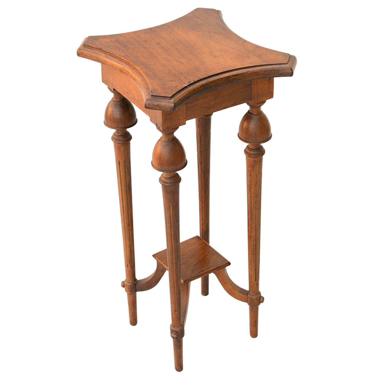 unusual walnut accent table at 1stdibs