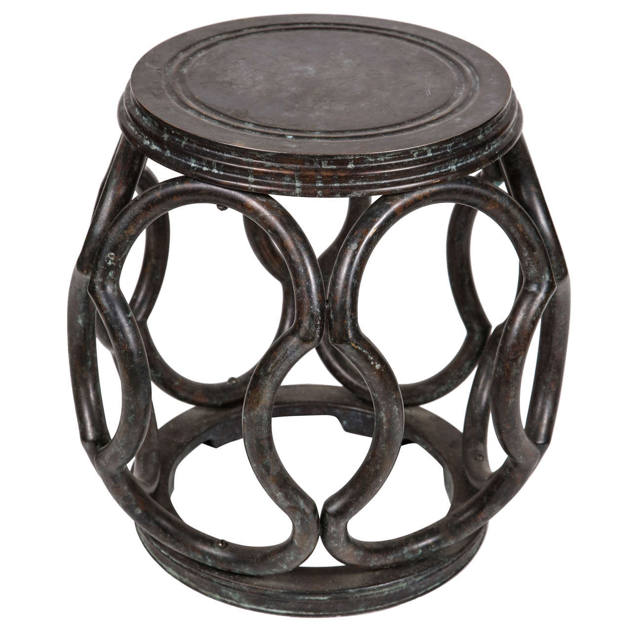 Bronze Garden Stool at 1stdibs