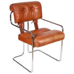 """Set of 6 Vintage Pace Faleschini """"Tucroma"""" Cantilever Arm Chairs"""
