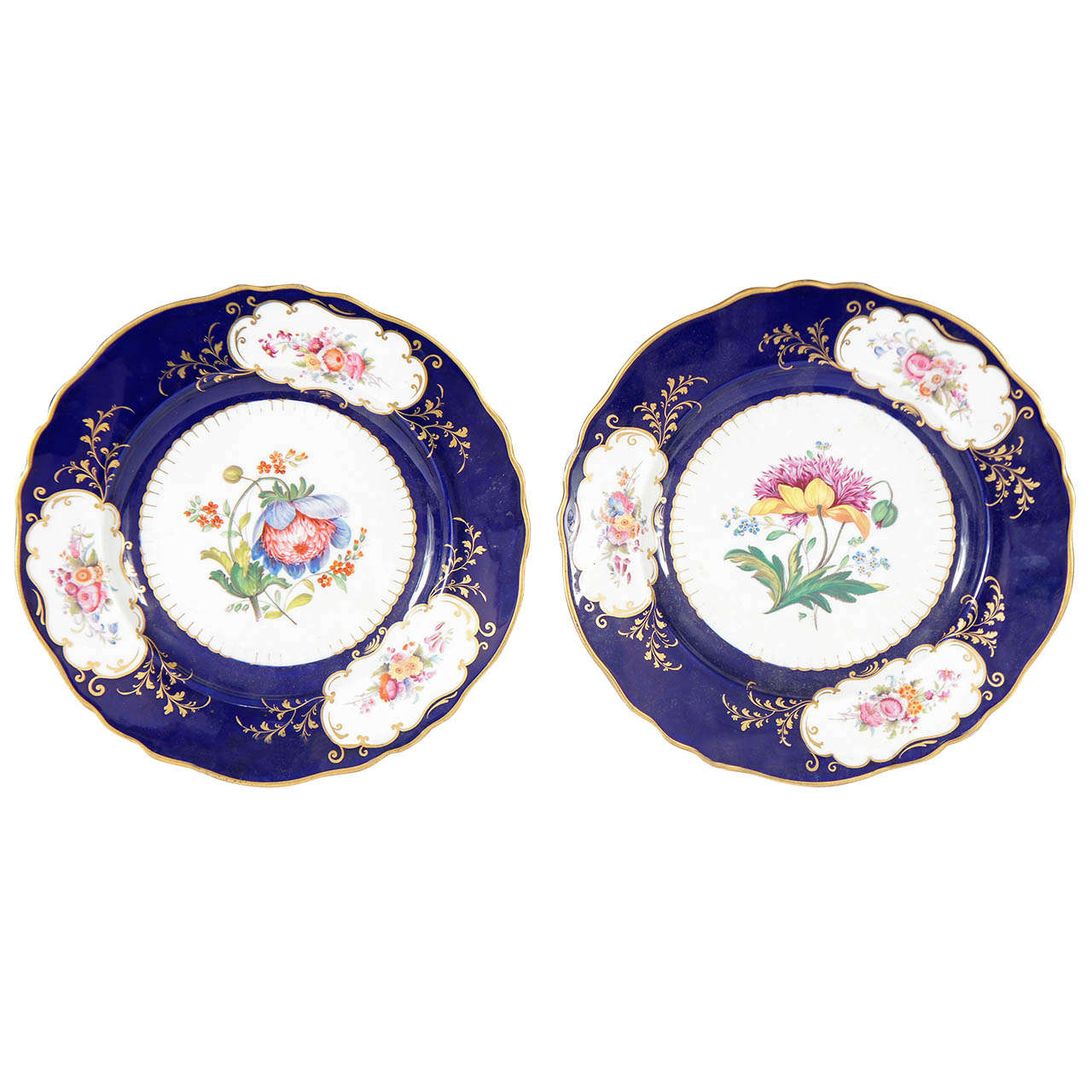 Pair of Similar Ridgway Porcelain Service Plates For Sale