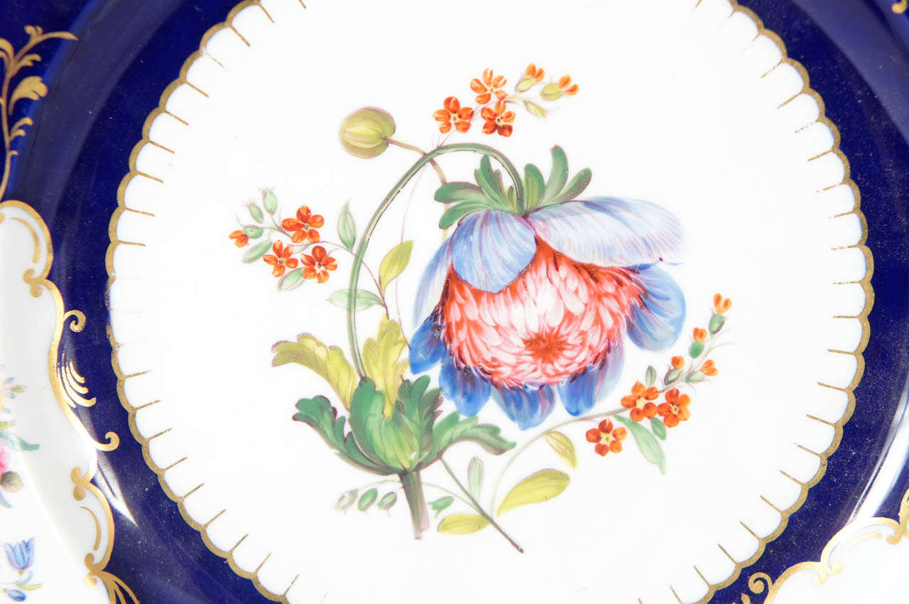 19th Century Pair of Similar Ridgway Porcelain Service Plates For Sale