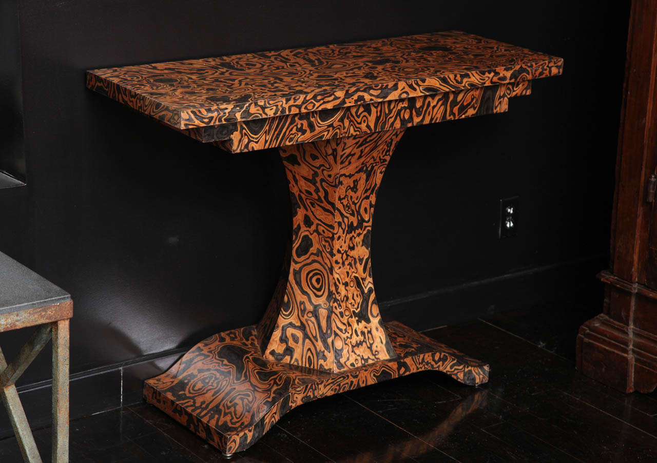 19th Century Zebra Wood Console At 1stdibs