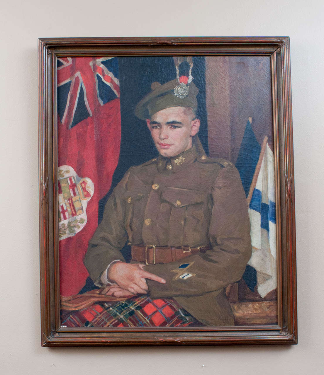 This wonderful portrait of a young man in New Brunswick Kilties uniform during World War I is both great art and an important historical artifact. Painted by Eben Farrington Comins (1875–1949), it was exhibited at the winter show of the National