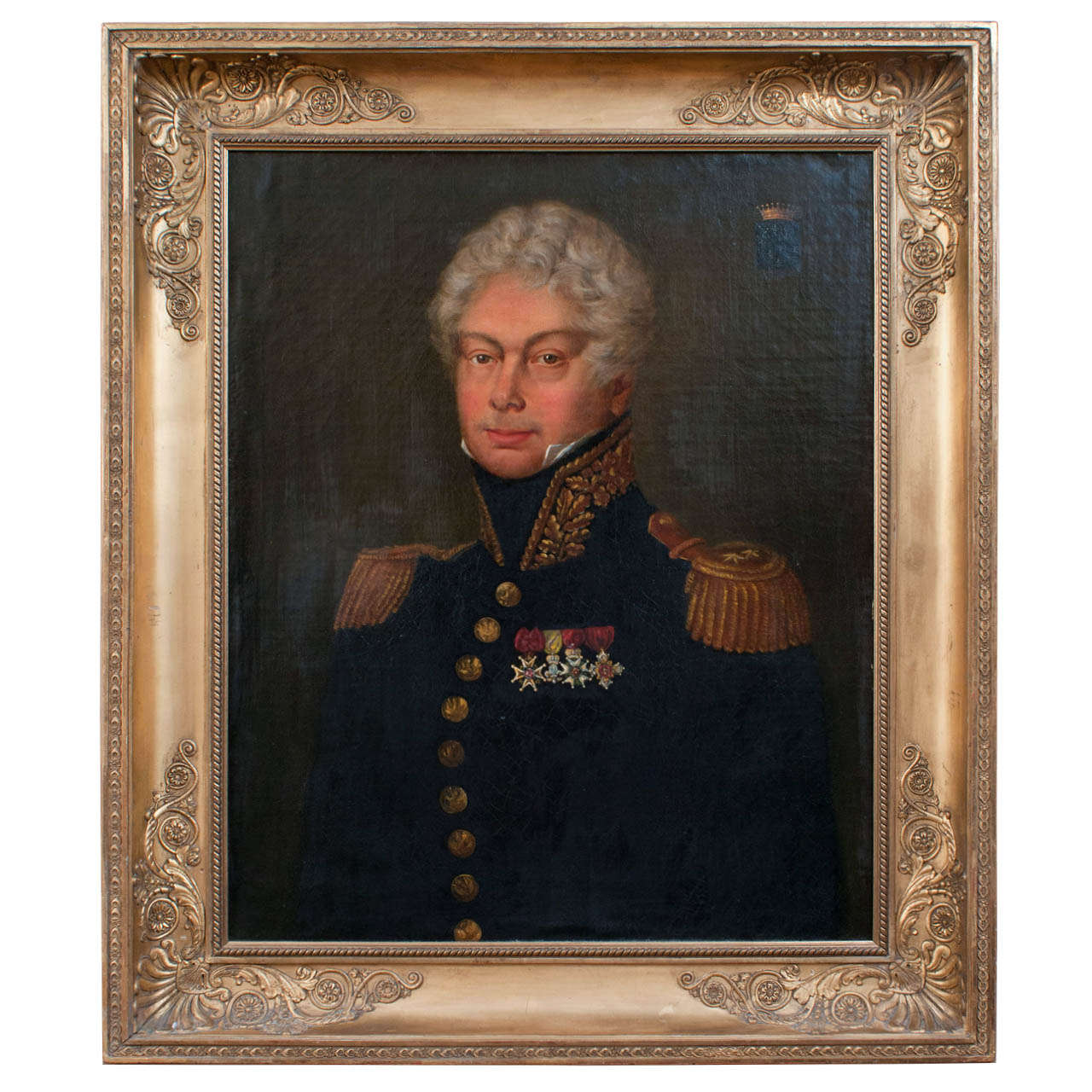 Oil on Canvas, Portrait of Jean René de CHAPPEDELAINE, Viscount