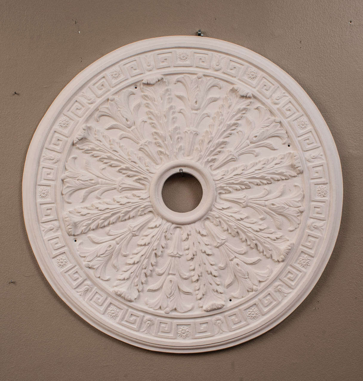 Collection Of Hand Cast Plaster Copies Period Ceiling Medallions In Excellent Condition For