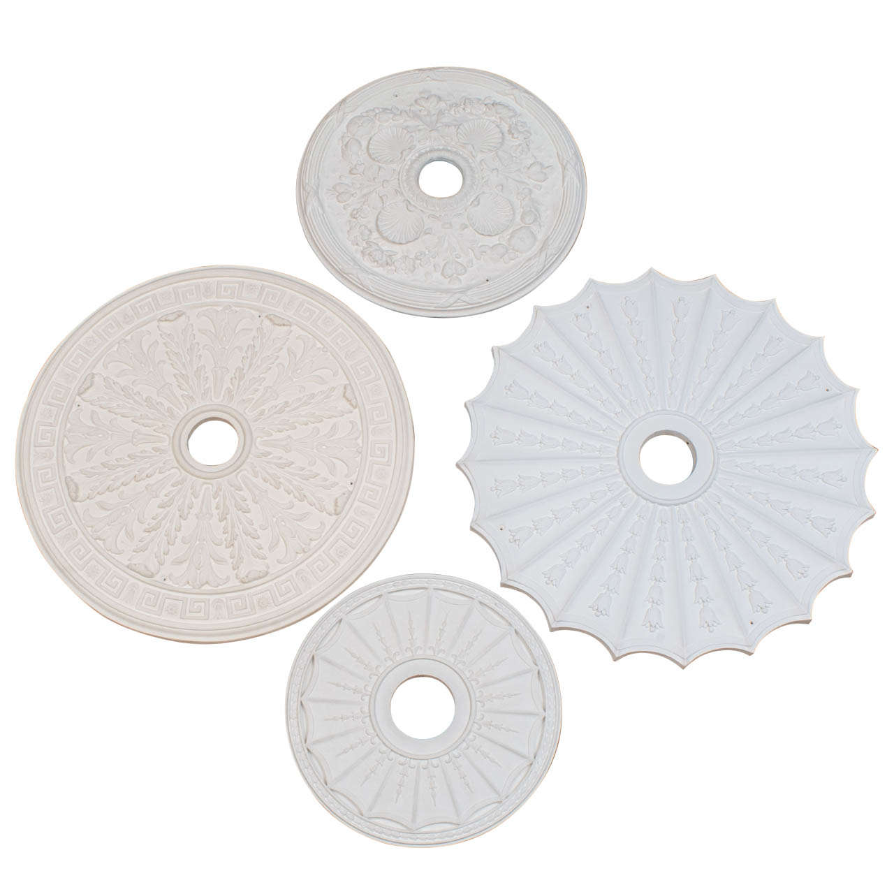 Collection of Hand Cast Plaster Copies of Period Ceiling Medallions