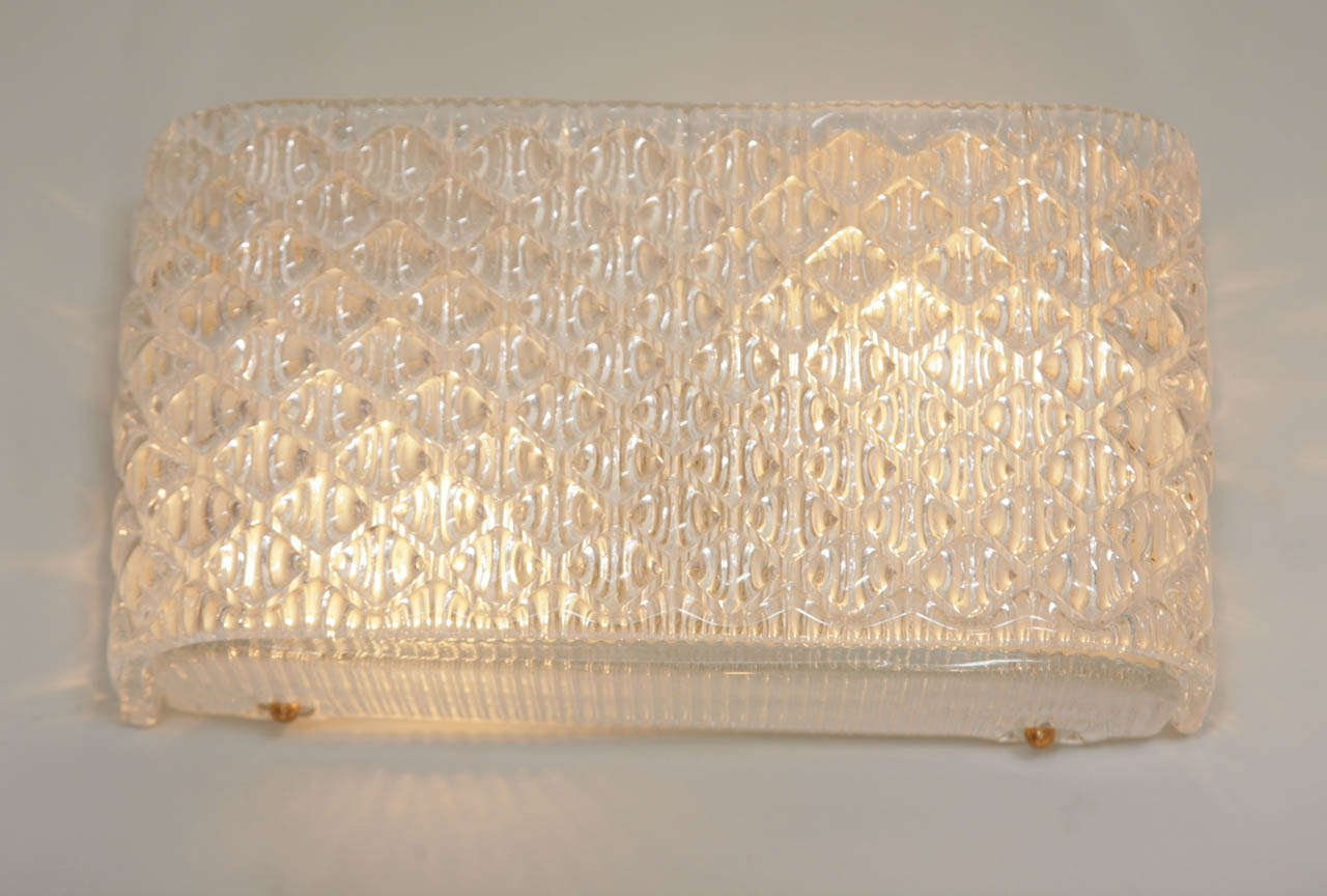 Italian Glass Wall Lights at 1stdibs