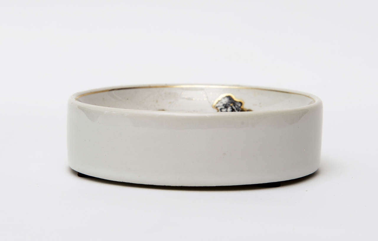 Piero Fornasetti Porcelain Bowl Mid-Century Modern In Good Condition For Sale In North Miami, FL