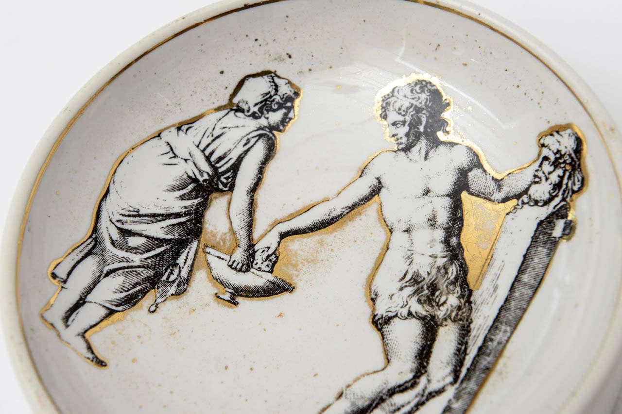 Piero Fornasetti Porcelain Bowl Mid-Century Modern For Sale 1