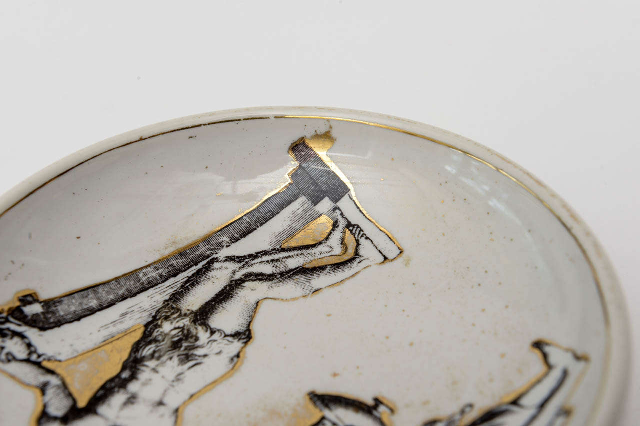 Piero Fornasetti Porcelain Bowl Mid-Century Modern For Sale 2